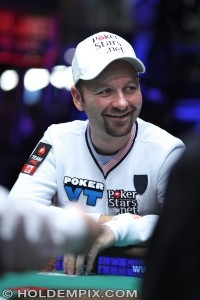 Daniel Negreanu in Final 27 at 2015 WSOP Main Event